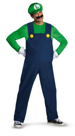 Plus Size Luigi Costume - Super Mario