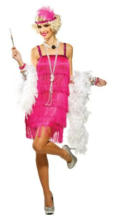 Adult Magenta Fifth Avenue Flapper Costume