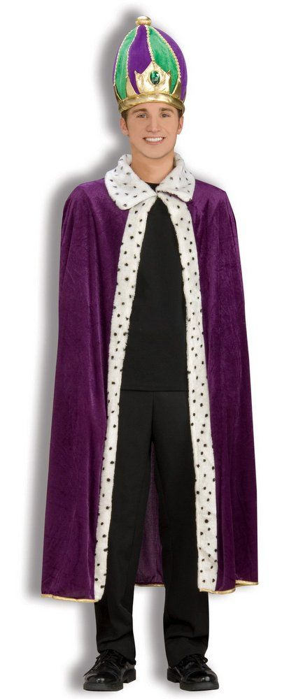 KING ROBE AND CROWN ADULT PURPLE