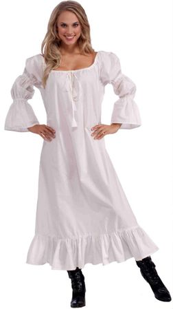 Adult Medieval Chemise Costume, Size M/L