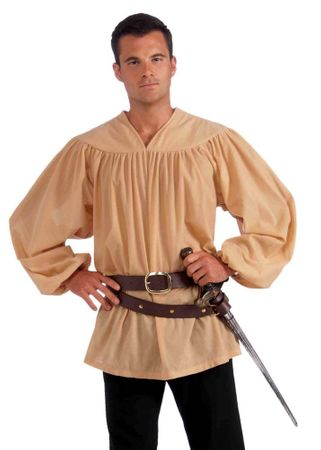 Adult Medieval Costume Shirt, Size M/L