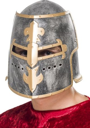 Adult Medieval Crusader Knight Helmet