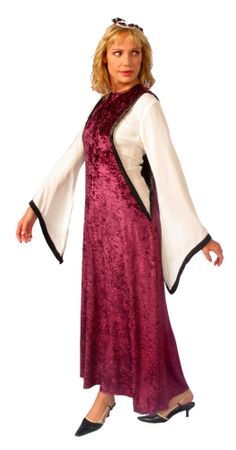 Adult Medieval Noble Maiden Costume - Burgundy