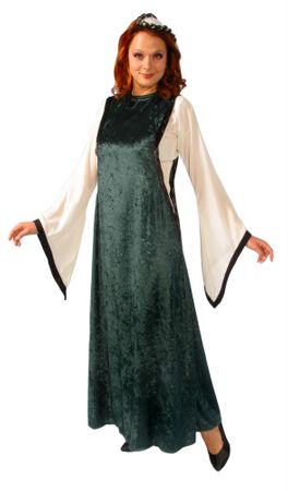 Adult Medieval Noble Maiden Costume - Green