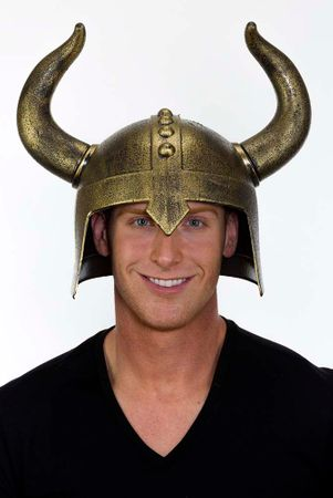Adult Medieval Warrior Helmet with Horns