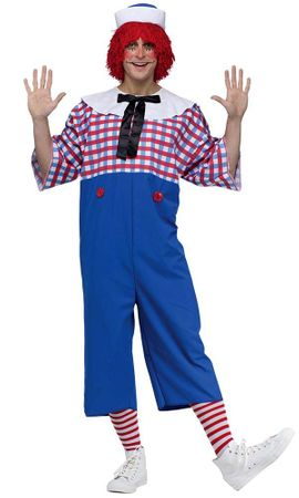 Adult Men's Licensed Raggedy Andy Costume