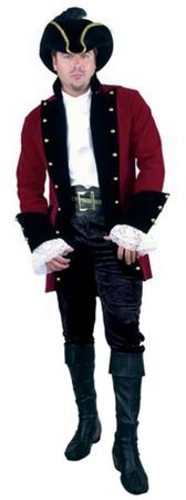 Adult Men's Plus Size Pirate Prince Coat Costume
