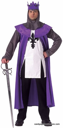 Adult Men's Renaissance King Costume, Size M/L
