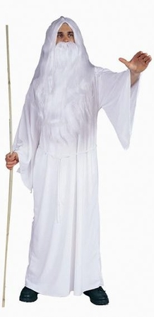 Adult Men's White Wizard Costume, Size M/L