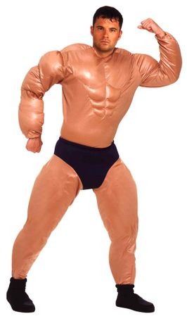 Adult Mr. Muscle Bodybuilder Costume, Size M/L