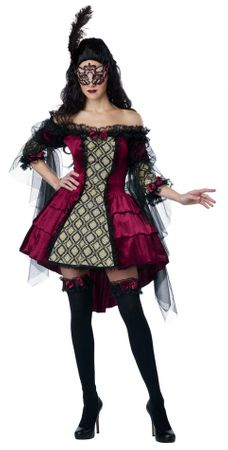 Plus Size Adult Mysterious Masquerade Costume
