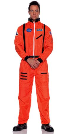 Adult NASA Astronaut Orange Jumpsuit Costume