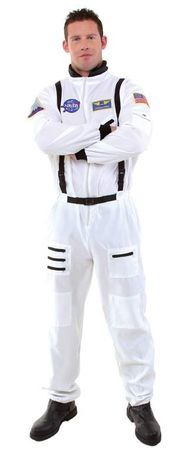 Adult NASA Astronaut White Jumpsuit Costume