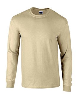 Adult Natural Cream Long Sleeve Tee Shirt