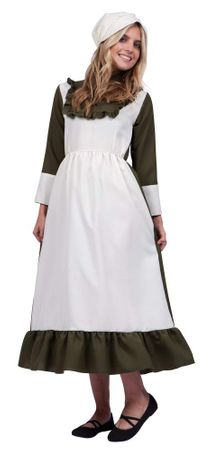 Adult Olive Colonial Peasant Woman Costume
