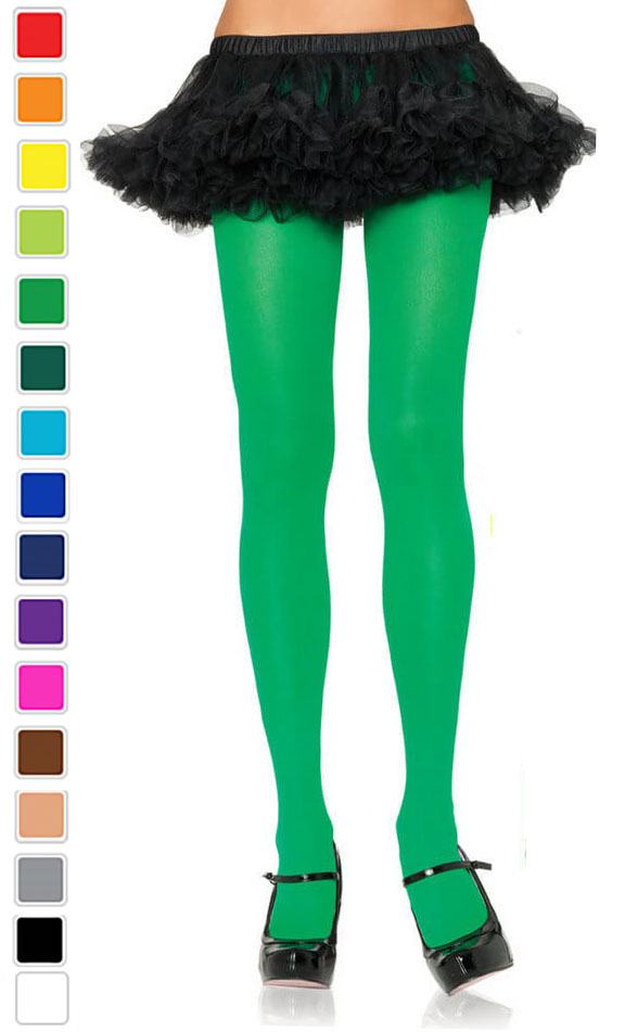 3698e32391d37 Adult Opaque Nylon Tights - More Colors - Candy Apple Costumes ...