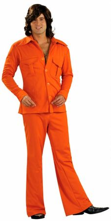 Adult Orange Leisure Suit Costume
