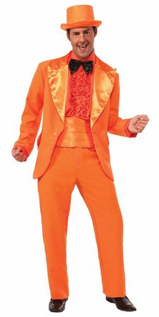 Adult Orange Prom Tuxedo Costume