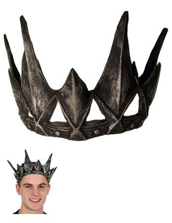 Adult Pewter Spiked Crown