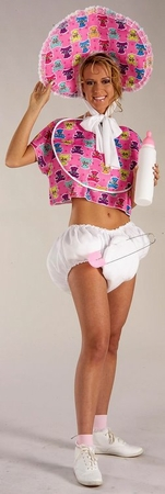 Adult Pink Baby Boomer Costume