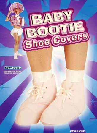 Adult Pink Baby Bootie Shoe Covers