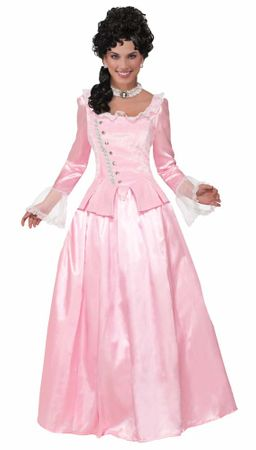 Adult Pink Colonial Maiden Costume