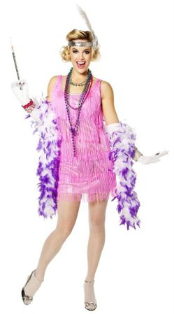Adult Pink Snazzy Flapper Costume