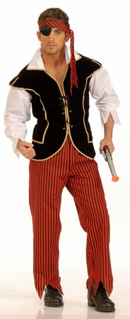 Adult Pirate First Mate Costume, Size M/L