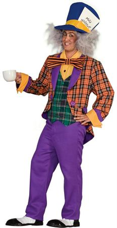 Adult Plaid Mad Hatter Costume