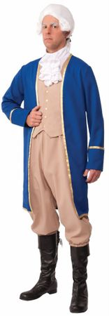 Adult Plus Size George Washington Costume