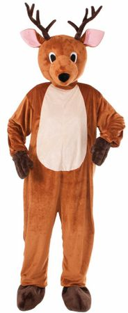 Adult Plush Reindeer Mascot Costume