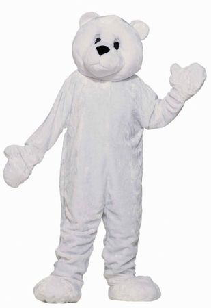 Adult Polar Bear Plush Mascot Costume