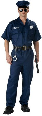 Adult Police Officer Costume, Size XL