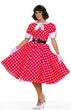 Adult Polka Dot 50's Housewife Costume, Size M/L