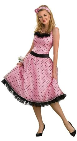 Adult Polka Dot Prom 50's Costume