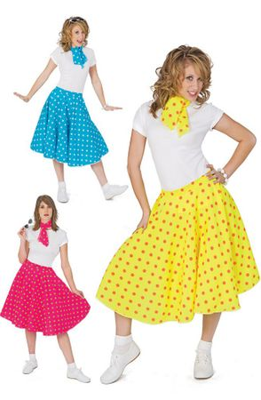 Adult Polka Dot Sock Hop Skirt
