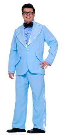 Adult Powder Blue Tuxedo Prom King Costume - Standard and Plus