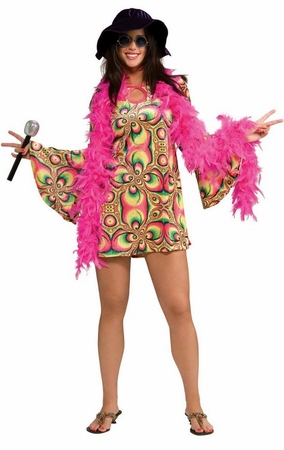 Adult Psychedelia 70's Costume, Size M/L