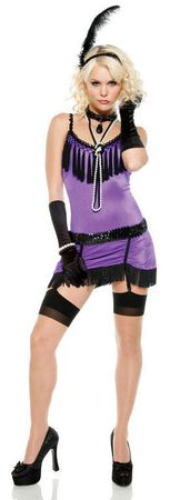 Adult Purple Fantasy Flapper Costume