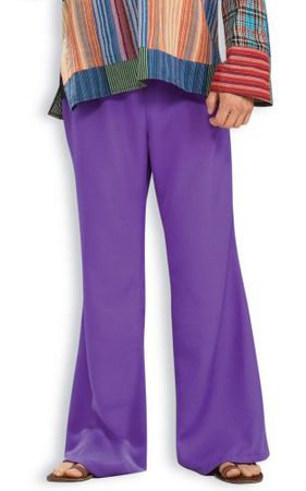 Adult Purple Hippie Bell Bottom Pants, Size M/L