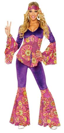 Adult Purple Power Hippie Costume