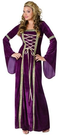 Adult Purple Renaissance Lady Costume