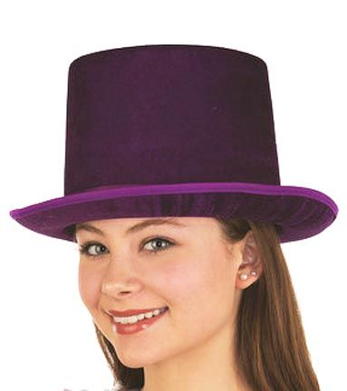 Adult Purple Velvet Top Hat