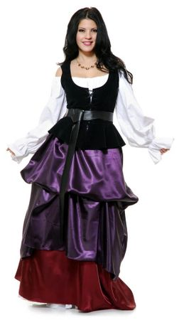 Adult Purple/Wine Renaissance Gathered Skirt