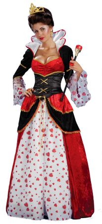 Adult Queen of Hearts Costume, Size M/L