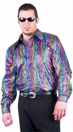 Adult Rainbow Swirl Disco Shirt