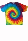 Adult Reactive Rainbow Tie Dye Tee Shirt