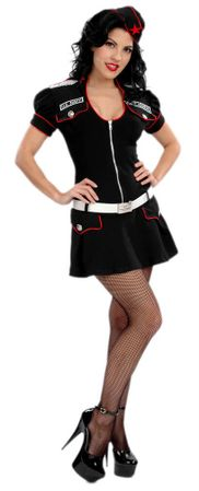 Adult Rear Admiral Sexy Sailor Costume, Size Large