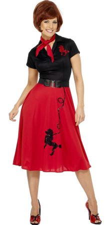 Adult Red/Black 50's Poodle Outfit