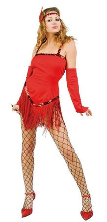 Adult Red Fringetime Flapper Costume
